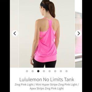 Lululemon No Limit Tank Top